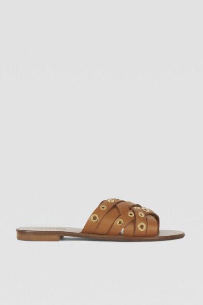 Flat-woven-leather-sandals_TRUSSARDI-JEANS_79A00533_SANDALIAS_CASTANHO_39_99€